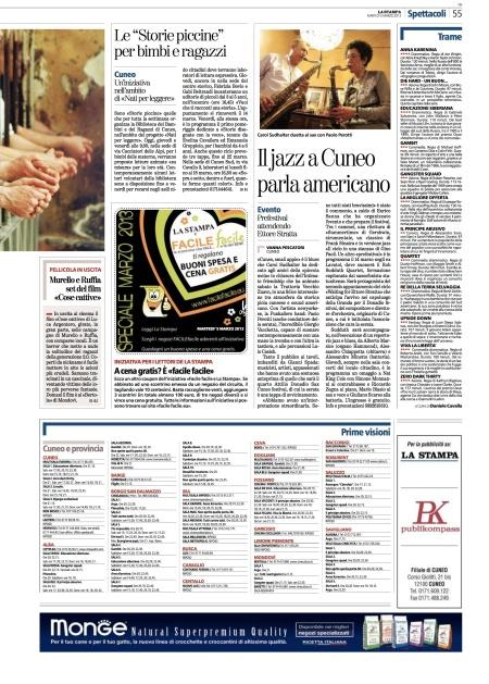 La Stampa 2013 Concert review by Vanna Pescatori