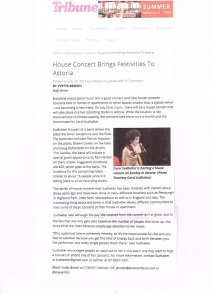 House Concert Tribune Article Color 2